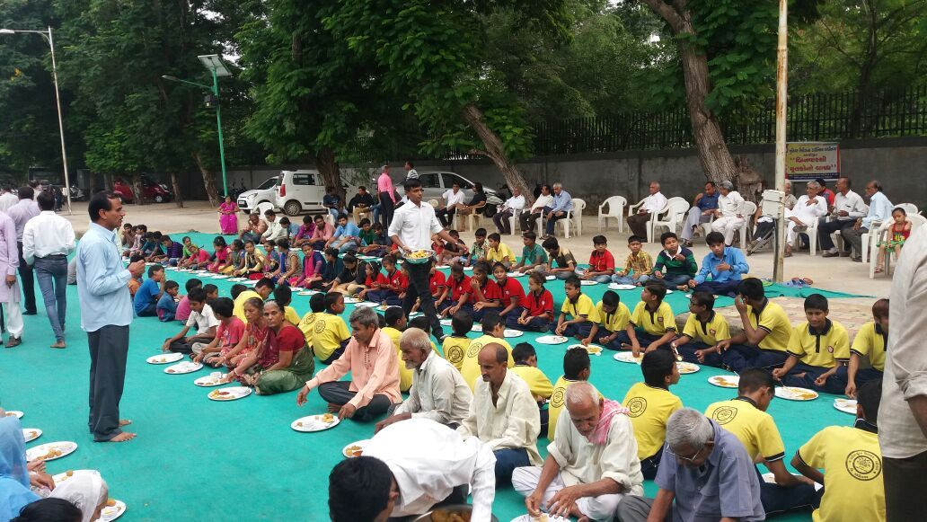 Camp for needy People Gandhinagar