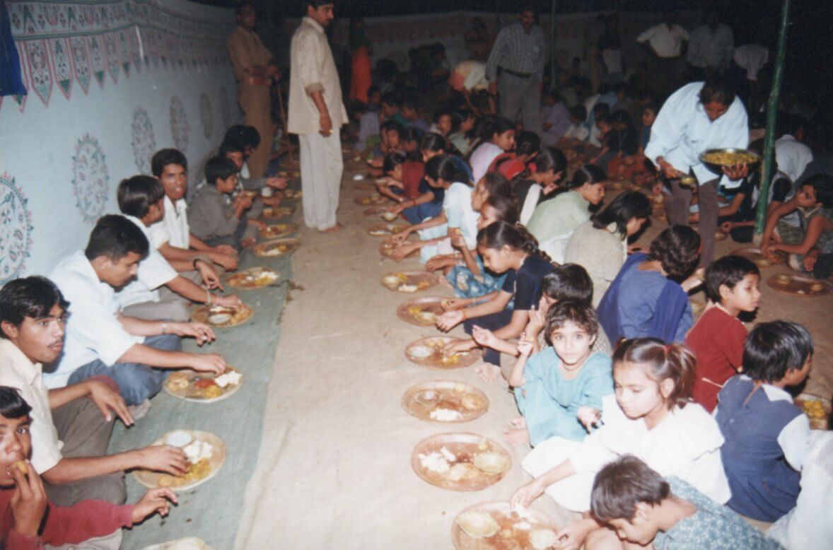 Camp for needy and poor people